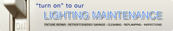 Lighting Maintenance, Fixture Repair Kansas City